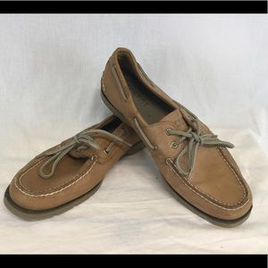 Sperry Topsiders Sz 11 Deck Boat Brown Shoes